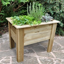 Deep Root Wooden Planter 1m