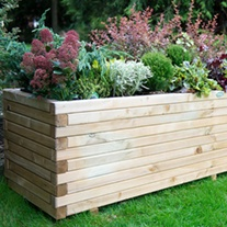 Lomello Wooden Planter