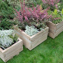 Kendal Square Wooden Planter Set of 3