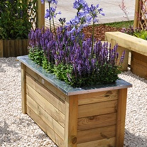 Cambridge Wooden Planter 100 x 50cm
