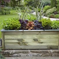 Cambridge Wooden Planter 150 x 50cm