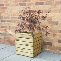 Linear Wooden Planter Square