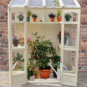 Victorian Tall Wall Greenhouse